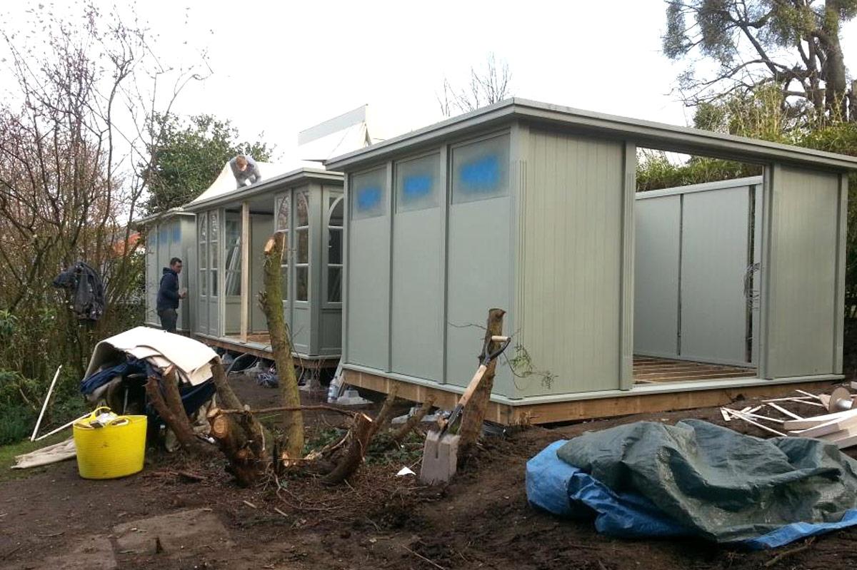 garden room being constructed